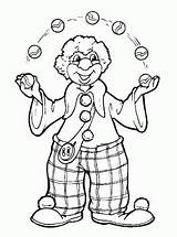 Coloring Juggler Printable sketch template