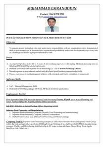Purchase Officer Resume Pdf by Doc 525679 Procurement Resume Exles Bizdoska