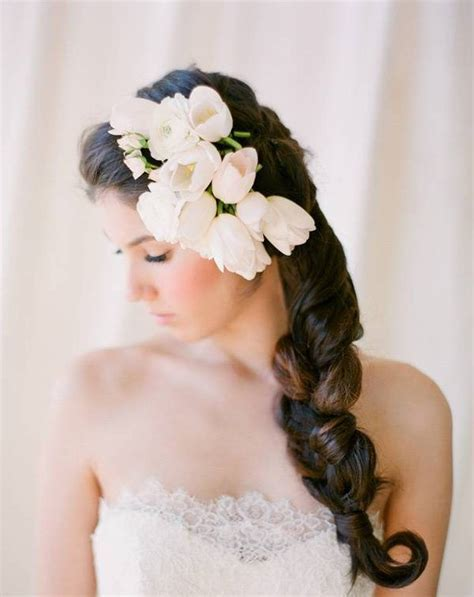 Wedding hairstyles with flowers Images Photos Pictures