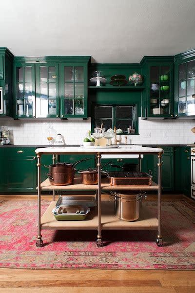 Dark Green Cabinets And Copper Pots Bailey Mccarth