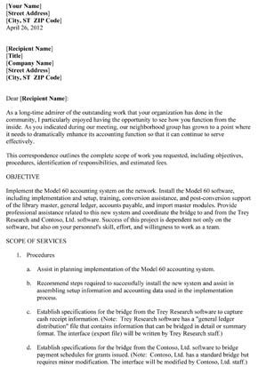 business proposal letter  pages small business  forms