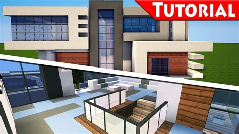 minecraft easy modern house mansion tutorial 9 part 2 interior how to build