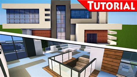 Minecraft Easy Modern House  Mansion Tutorial #9 Part