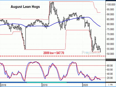 Possible Support for August Lean Hogs?