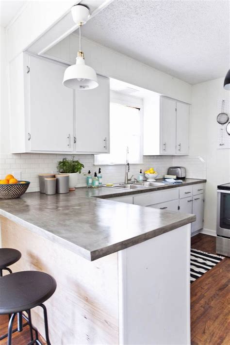 polished concrete counters diy  ardex feather finish