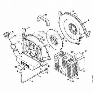 Stihl Br 400 Backpack Blower  Br 400  Parts Diagram  F