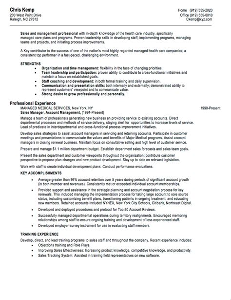 Key Accomplishments Nursing Resume by 10 Sales Resume Sles Hiring Managers Will Notice
