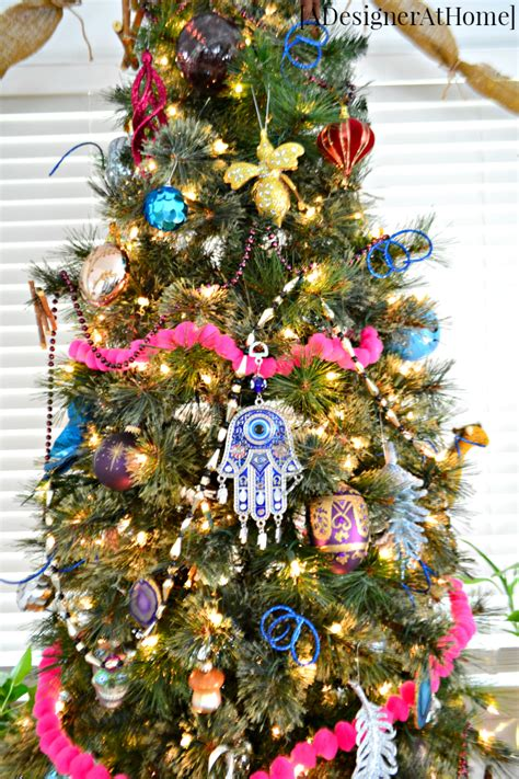 globally boho christmas tree  designer  home