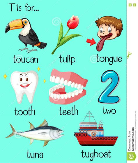 Tugboat Vector Question by Words With The Letter T Many Words Begin With Letter T