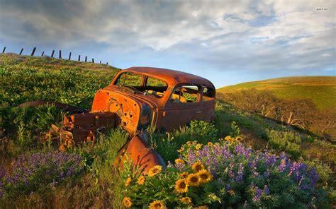 Abandoned Old Cars Wallpaper Wallpapersafari