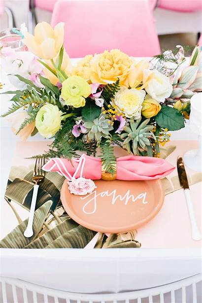 Bridal Shower Tropical Centerpieces Southern California Succulents