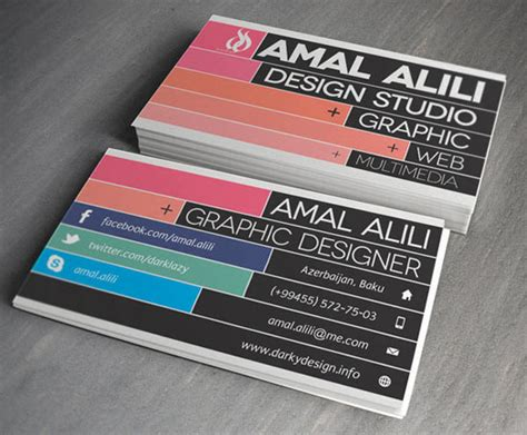 cool graphic design business cards 20 new cool creative business card designs for inspiration