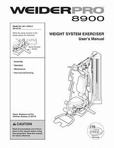 Weider 831149230 User Manual Pro 8900 Manuals And Guides