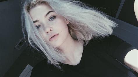 white hair  home okaysage youtube