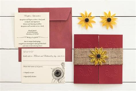 49 Best Images About Sunflower Wedding Invitations On
