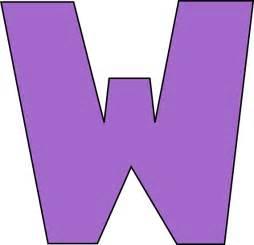 Purple Letter W Clip Art Purple Letter W Image