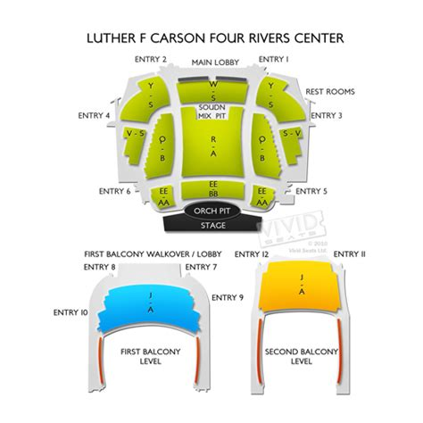 bureau front national luther f carson four rivers center seating chart seats