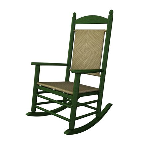 shop polywood green seagrass recycled plastic woven seat