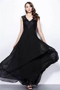 Haut Habillé Pour Soirée : robe longue de soir e noire dos ajour haut en dentelle ~ Melissatoandfro.com Idées de Décoration