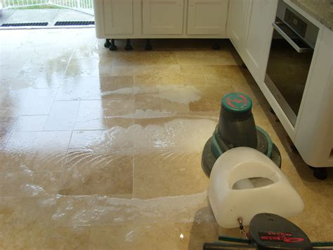 Travertine Floor Cleaning Machines by Cleaning Sealing Travertine Floor Tiles In Havant Tile