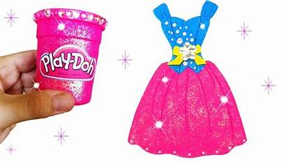 Doh Play Sparkle Modeling Barbie Clay Glitter