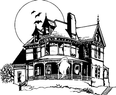 Scary Halloween Coloring Pages Online by Cartoon Haunted House Coloring Page Coloring Home