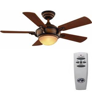 hton bay midili 44 in gilded espresso ceiling fan