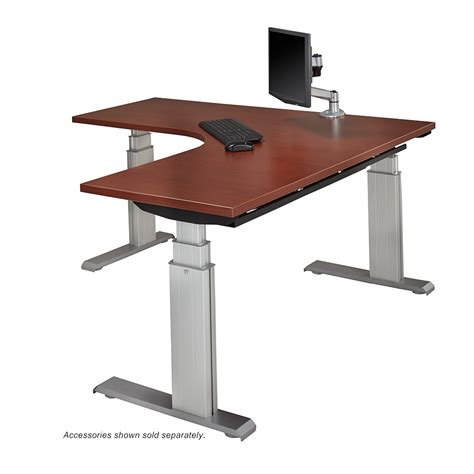 motorized adjustable height desk newheights elegante xt sit stand desks by rightangle products