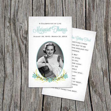 blank funeral prayer card template funeral program template