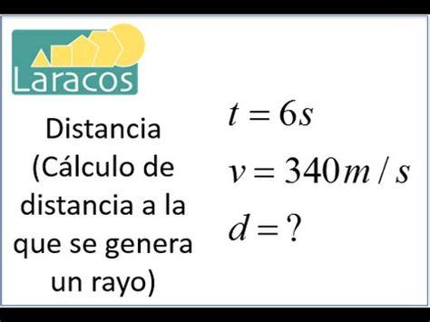 como calcular la distancia  la  se genera  rayo