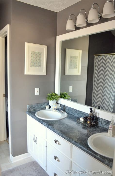 Frame Bathroom Mirror by How To Frame Out That Builder Basic Bathroom Mirror For
