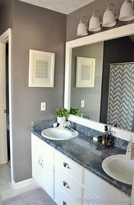How to frame out that builder basic bathroom mirror (for
