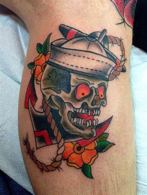 sailor skull tattoo  tattoo design ideas