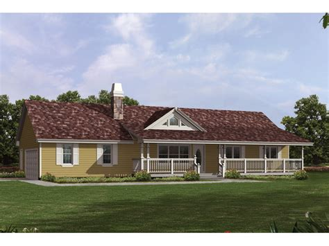Valhalla Hill Country Ranch Home Plan 062d0050 House