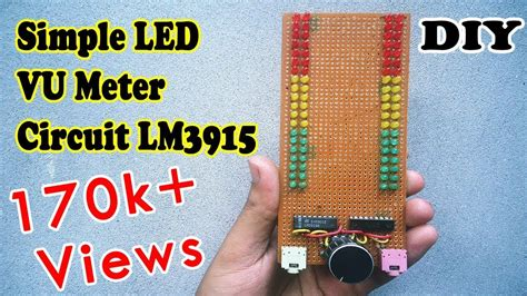 simple vu meter   leds ic lm youtube