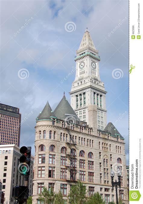 horloge de bureau de douane de boston image libre de droits image 6623086