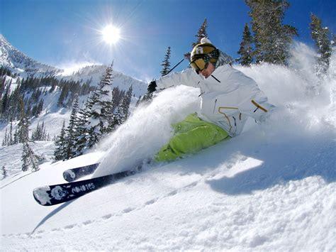 Skiing Background Wallpaper Free Skiing