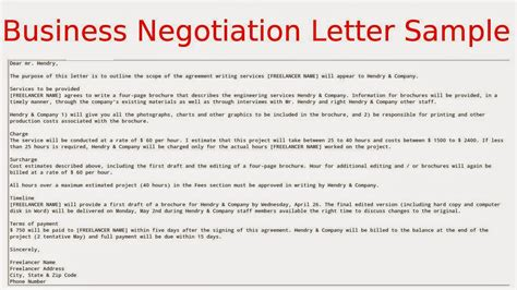 price negotiation letter template