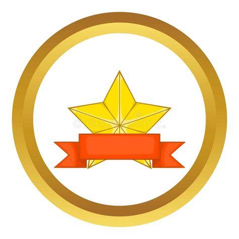 14764 award ribbon icon vector gold award with ribbon vector icon stock vector