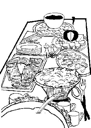 dining table with food clipart black and white dining table with food clipart 28