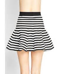 Forever 21 Striped Knit Skater Skirt | Where to buy & how ...
