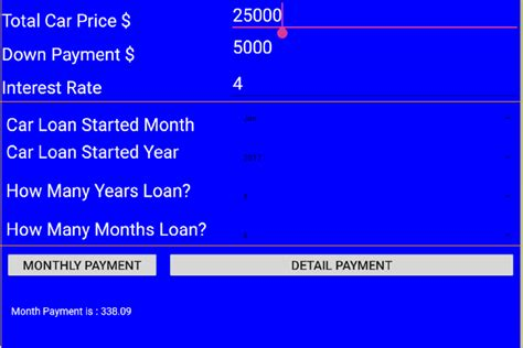car loan calculator detail android apps  google play