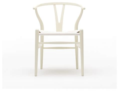 ch24 wishbone chair in white midcentury dining chairs