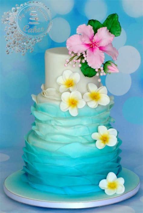 Hawaii Themed Wedding Cake  Cake By Beata Khoo Cakesdecor