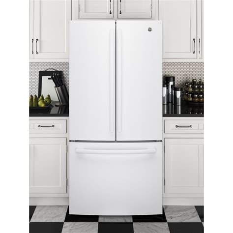ge  cu ft counter depth french door refrigerator white gwejglww ge appliances