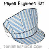 transportation crafts and educational activities for children With conductor hat template