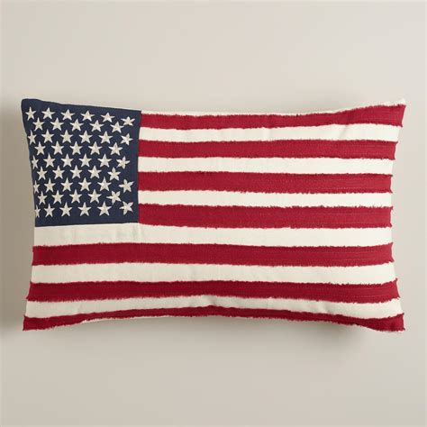 american flag pillow american flag with embroidered lumbar pillow world