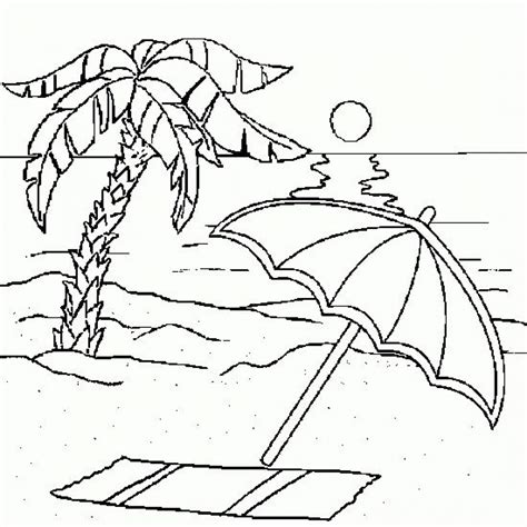 beach coloring pages  printable krww
