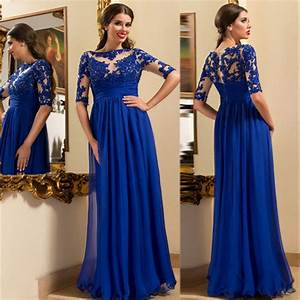 Royal blue evening dressesmother of the bride dressesa for Royal blue wedding guest dress