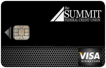 visa signature card  summit federal credit union